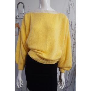 Vintage☆Yellow Knit. Sweater